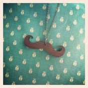 Image of Mustache Love - Wood Necklace
