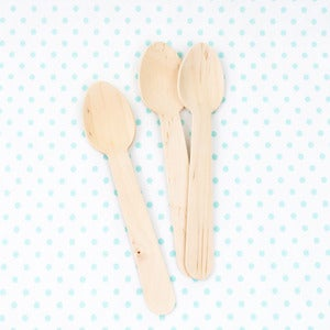 Image of 12 Wooden Spoons