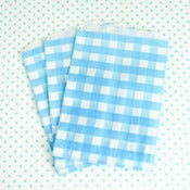 Image of Blue Gingham Treat Bag