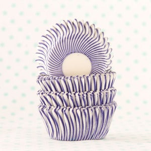 Image of Purple Pin Stripe Mini Cupcake Liner