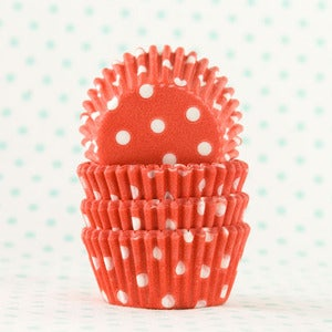 Image of Red Dot Mini Cupcake Liner