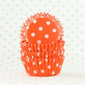 Image of Orange Dot Mini Cupcake Liner