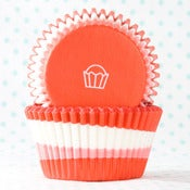 Image of Red Swirl Cupcake Liner