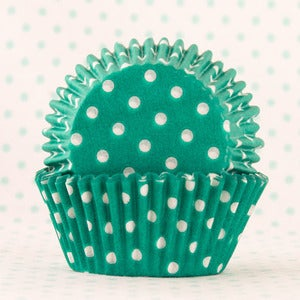 Image of Green Dot Cupcake Liner
