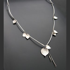 Image of Bamboo Necklace Silver