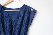 Image of Blue floral lace dress - M