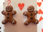 Image of Yummy Gingerbread Man Earrings Cookie Biscuit Gingy