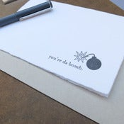 Image of da bomb letterpress card