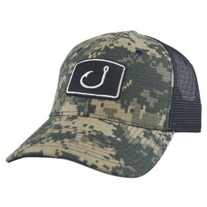 Image of Digital Camo Trucker Hat - Digi Camo & Black