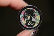 Image of Floral Lady Skull Silhouette Plugs
