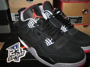 "Image of Air Jordan IV (4) Retro ""Black/Red"" 2012"