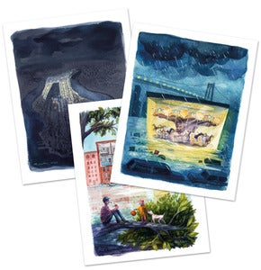 Image of Hurricane Sandy Postcards Set