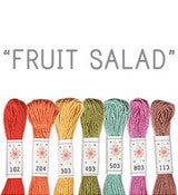 Image of Sublime Stitching's 6 pack of Embroidery Floss - Fruit Salad