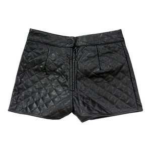 Image of Wren. - Heritage Quilted Shorts in Black