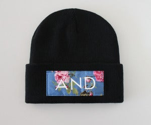 Image of Black Floral And Beanie