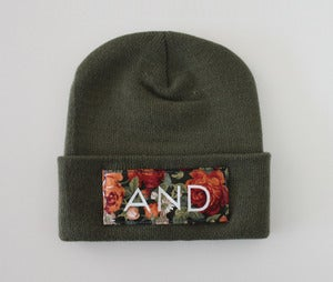 Image of Olive Floral And Beanie
