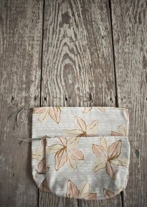 Image of Pouches: Peach Lilies