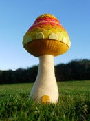 Image of Magic Door Mushroom Felt Sculpture