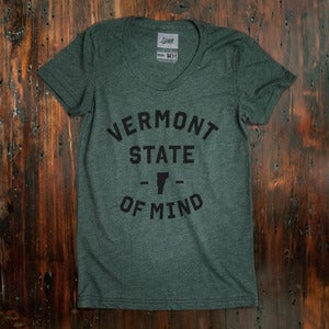 Image of Women's Vermont State of Mind - Green