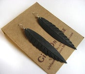 Image of Half Native - Recycled Bike Tube Earrings