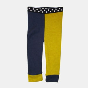 Image of Wooly Jester Leggings - Navy+Gold