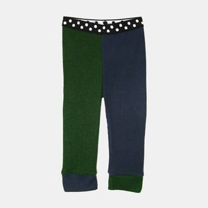 Image of Wooly Jester Leggings - Navy+Forest