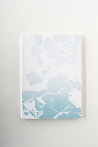 Image of indigo dye letterpress NOTEBOOK -- #2
