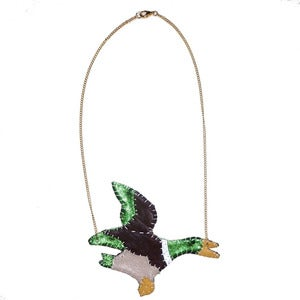 Image of Flying Duck Necklace