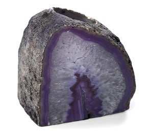 Image of Purple Agate Stone Candle Holder