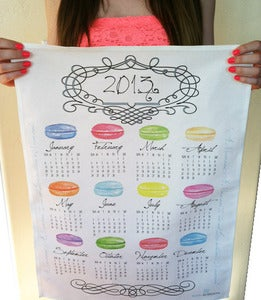 Image of 2013 Calendar Macaroon Tea Towel