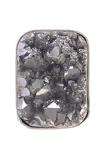 Image of Silver Druzy Pillow Ring