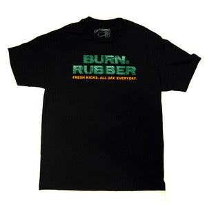 Image of Burn Rubber Stacked Logo Tee (Gucci)