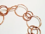 Image of Hammered Copper Chain Bracelet