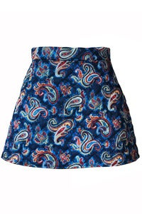 Image of Lila Cosmic Paisley quilted skirt