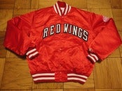 Image of Vintage Detroit Red Wings Red Satin Starter jacket