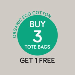 Image of Buy 3 Get 1 Free - Organic Eco Cotton Tote Bag