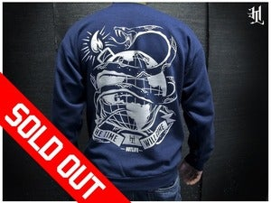 Image of *SOLD OUT* HOTLIFE - &quot;LEARN TO LIVE&quot; NAVY CREWNECK