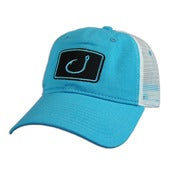 Image of Tomboy Trucker Hat - Aqua &amp; White