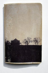 Image of 3.5&quot; X 5.5&quot; Blank Journal with image transfer of House. B&amp;W VERSION