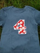 Image of Appliqud Number Birthday Shirt and Onesie