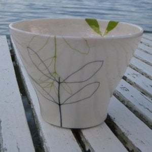 Image of Porcelain Leaf Cup