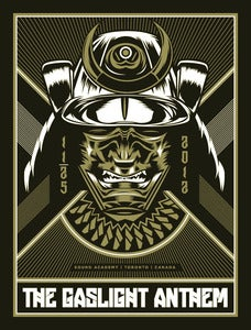 Image of The Gaslight Anthem - Toronto, Canada - Samurai Concert Poster