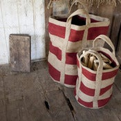 Image of Striped Jute Bag