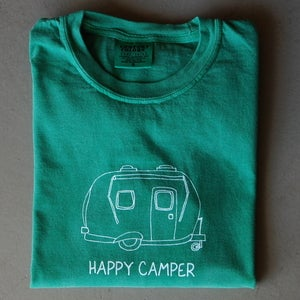 Image of Happy Camper Long-Sleeved ADULT tee