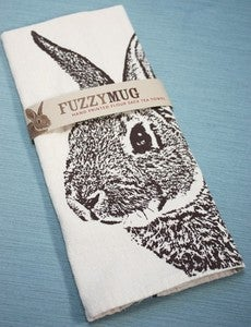 Image of More Fuzzy Mug Hand-Printed Flour Sack Tea Towels