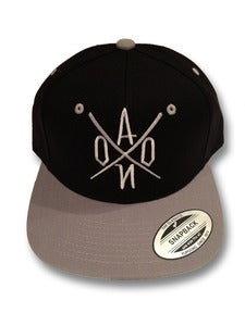 Image of Black & Grey AONO Embroidered Snapbacks