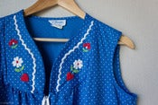 Image of VINTAGE CHARM polkadot house dress - L