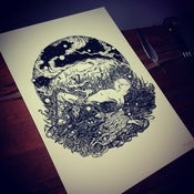 Image of 'SILENT QUEEN' Limited Edition Screen Print. SOLD OUT