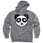 Image of Panda Paint Eater Grey Pullover Hoodie