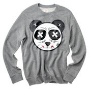 Image of Panda Paint Eater Grey Crew Neck Sweater